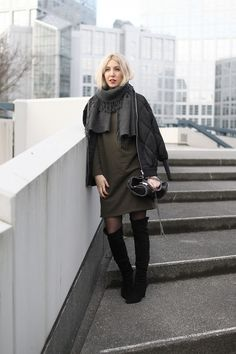 Bomberjacke, Overknees, Stella McCartney, Falabella, People Tree, Acne Studios, Look, lotd, ootd, Outfit, Streetstyle, Inspiration, Winter, Design, Fashion, Blog, stryleTZ