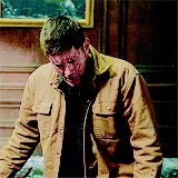 This gif. This shows us the amazing acting skills of Jensen Ackles. Look at the vast amount of emotions that flicker across his face when Sam's voice pulls him back from the edge. Look at that lost little boy look on his face. He's Dean, the REAL Dean, in that moment.