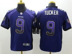 Nike Baltimore Ravens #9 Justin Tucker Drift Fashion Purple Elite Jersey