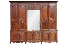 Monumental French Walnut  Cabinet