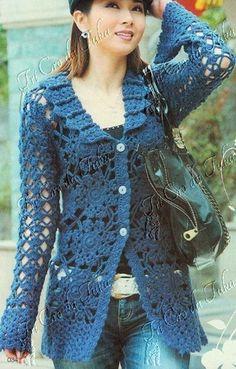 Lady crochet CARDIGAN