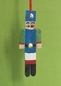 Nutcracker Popsicle Ornament Craft for Christmas