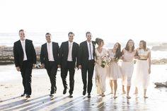 Glittery vintage beach wedding -