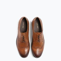 Image 4 of LEATHER BLUCHER from Zara
