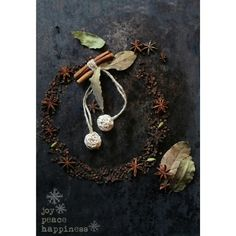 Merry Christmas : Joy   Peace   Happiness  Spice Wreath #foodstyling #raw #ingredients #spices #Indiankitchen