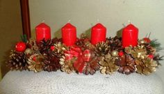 adventní věnec Pillar Candles, Christmas Wreaths, Holiday Decor, Home Decor, Decoration Home, Room Decor, Home Interior Design, Candles, Home Decoration