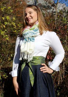 Elegant, Bunt, Winter, Fashion, Accessories, Silk Shawl, Vibrant Colors, Dirndl, Scarves