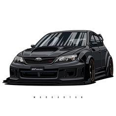Subaru STI. Owne Tuner Cars, Jdm Cars, Sports Car Wallpaper, Japanese Domestic Market, Subaru Cars, Subaru Legacy, Car Illustration, Car Drawings, Automotive Art