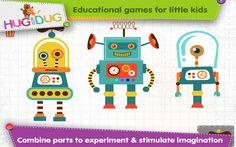 Robot Shapes Lab – Let your little child Imagine & create his own unique robots.