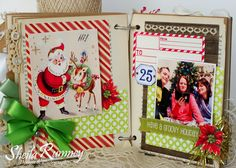 Today, I am back to share a little Christmas inspiration...     (Album created with Polly's Paper Studio Retro Christmas Creativity Kit )  ...