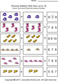 basic math worksheets for kindergarten | ... math kids theme com all right reserved free math worksheets for