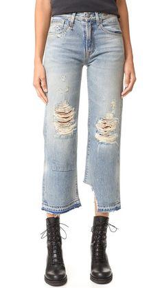 R13 Camille Jeans. #r13 #cloth #dress #top #shirt #sweater #skirt #beachwear #activewear