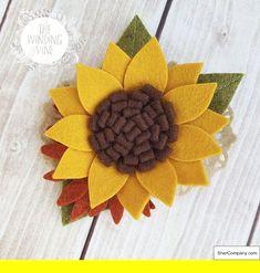 Fall Felt Sunflower Headband/Clip/Barrette for Baby, Child, Teen, or Adult Sunflowers Herbstfilz Son Fall Crafts For Kids, Crafts For Teens, Crafts To Sell, Arts And Crafts, Diy Crafts, Felt Flowers, Diy Flowers, Fabric Flowers, Paper Flowers