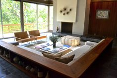 I miss sunken living rooms~  Dwell on Design 2013 Exclusive House Tour: Strimling House