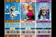 Frozen Birthday Party Ideas Disney Movie Invites Elsa Sven Easy Affordable
