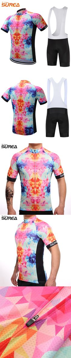 SUREA Brand Pro Cycling Set MTB Bicycle Clothes Maillot Ropa Ciclista Bike Clothing Summer Sportswear Mens Ciclismo Jerseys