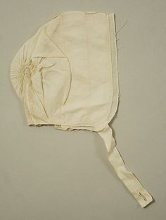 Cap, British, linen, 18th century