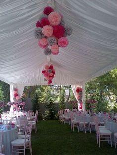 decoracion para 15 años al aire libre con globos (4)