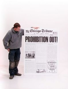 Prohibition Out Newspaper