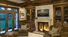 Awesome fireplace! SDG Architects