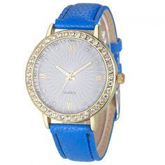 Stylové dámské hodinky s bílými zirkony – modré Na tento produkt se  vztahuje nejen zajímavá sleva 9cf54a53bc