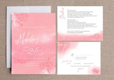 Raspberry Wedding » Watercolour wedding invitations: Modern and Luxe. More invite ideas here http://raspberrywedding.com/watercolour-wedding-invitations-modern-and-luxe/