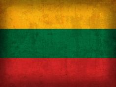 Lithuania Flag Vintage Distressed Finish Mixed Media