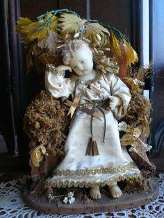 Pensive baby Jesus