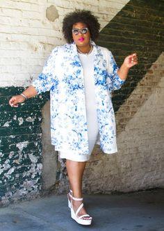 Kellie is fresh and crisp in Modern White & Blue