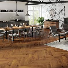 Marylebone Rich Toffee Oak Brushed & Lacquered
