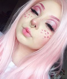 Can't handle @_midnightradio's excessive cuteness! She's wearing sugarpill eyeshadows and jeffree star cosmetics Doll Parts lipstick.