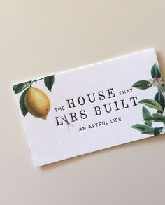 Stunning! Letterpressed business cards | The House That Lars Built