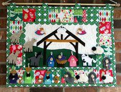 Advent Calendar Nativity Scene by sewsuecatlettsew on Etsy, $100.00