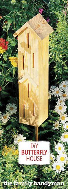 How to Make a DIY Butterfly House #howtobuildabirdhouse #birdhouseideas