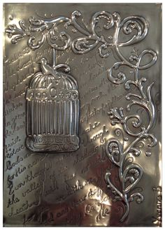 Journal cover inscribed with psalm 23, by Yvonne, Pewter Me Blue