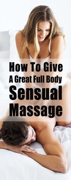 how to give a guy a sensual massage