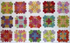 lucy boston patchwork of the crosses  Precut honeycombs available at Paperpieces.com