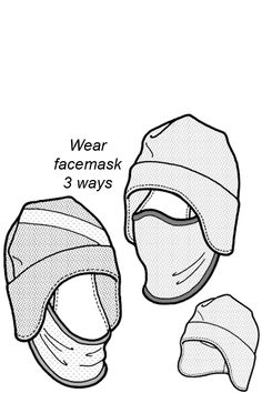 550 – Tuck-Away Balaclava Pattern Hat Patterns To Sew, Clothing Patterns, Sewing Patterns, Sewing Hacks, Sewing Crafts, Sewing Projects, Sewing Tips, Sewing For Kids, Free Sewing