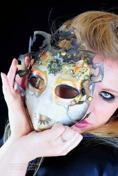 Venetian Costume Steampunk Mask  Dark Medusa by AtticRaiders, $189.99