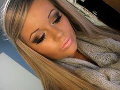 Brown Smokey Eye and Pink Lips