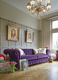Couch's Bronte four-seater sofa in Amethyst velvet #velvet #sofa #autumn #cosy #amethyst Please like http://www.facebook.com/RagDollMagazine and follow @RagDollMagBlog @priscillacita