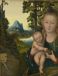 Мадонна с младенцем (ок.1525) (Москва, Музей изобр.искусств им.Пушкина)