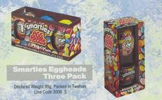 From 1991 Smarties Egg Heads easter eggs