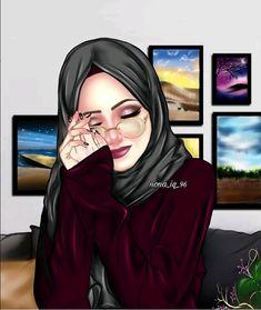 My darling husband I miss you so much please come home soon darling Meri Zindagi Meri jaán 🌹🌹🌿🌿🌹🌹🎼🎵🎶🙋💏 Hijabi Girl, Girl Hijab, Sarra Art, Hijab Drawing, Cute Muslim Couples, Lovely Girl Image, Islamic Cartoon, Anime Muslim, Hijab Cartoon