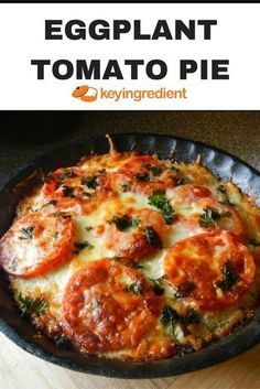 Tomato Recipes - This Eggplant Tomato Pie recipe is not an exact science, so don't be afraid to wing it on the ingredients or add amounts to your preferred taste. Vegetable Recipes, Vegetarian Recipes, Cooking Recipes, Healthy Recipes, Healthy Eggplant Recipes, Vegetable Entrees, Eggplant Tomato Pie Recipe, Green Tomato Pie, Lasagna