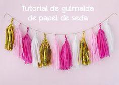 cmo hacer guirnaldas de papel de seda postreadiccin - Hacer Guirnaldas