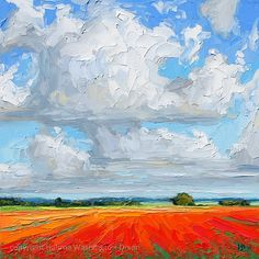 Poppies in the sun by Halima Washington-Dixon       Cloudscape, England, landscape, poppies