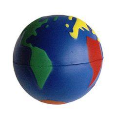 BOLA ANTIESTRÉS WORLD REF:DIV-457   Poliuretano.  Tipo de Producto: IMPORTADO.  Medidas: 7 cm diámetro.  Área de Marca: Máximo 4.5 cm de ancho.  Técnica de Marca: Tampografía.  Colores Disponibles: Combinado.