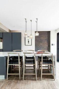 Dove House, Kitchen Contemporary, Modern Kitchens, Kitchen Design, Dining Table, Kitchen White, Classic, Interior, Furniture