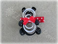 Panda Bear Ribbon Sculpture Hair Clip via Etsy
